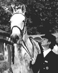 1979 European Champion, Sissy May-Theurer and Mon Cherie in Aarhus/DEN