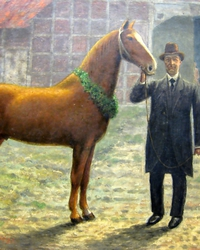 1875: Georg Vorwerk founded a private stallion station, beginning with the stallions Agrarier and Macro.